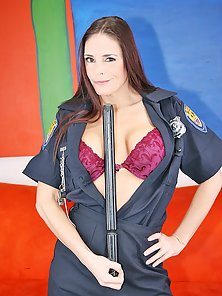 Female cop Cheyenne Hunter with huge tits and sexy booty drilled by black monsta dick
