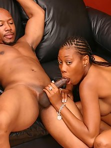 Ho loves to suck a big black dick