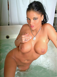 Lanny Barby getting all wet and horny