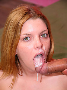 Ramon blows his full load in redheads awaiting mouth