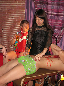 Examine wonderful young sex party after Halloween party