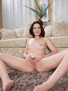 Horny Brunette Girl Plays with Her Throbbing Wet Pussy