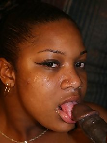 Striptease Ebony Loves to Suck and Asshole Plowed