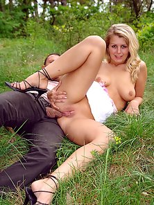 Skinny Blonde Babe Shows Her Nice Boob and Fucked Hard In Riding Position