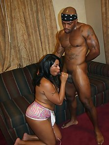 Hot Ebony Brandy Dearborn Gives Head and Fucked Hard by Muscular Man