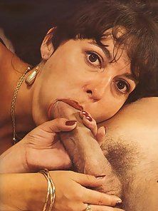Two classic ladies sucking off two erect penises