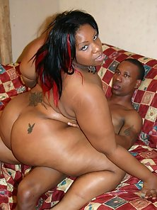 Chubby Lady Jumping On Her Partners Massive Dick Over Couch