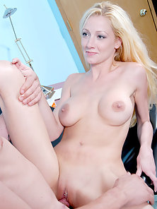 Blonde gals dripping wet clam eaten by chap