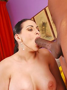 Massive titted mommy Harley Rain in hot interracial hardcore