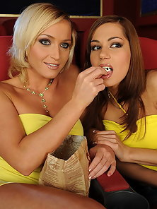 Lesbian girlfriends are dildoing each in the movie