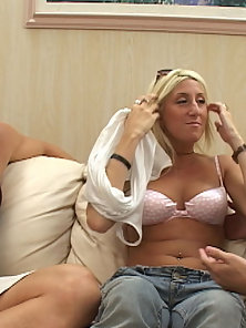 Sexy Blonde Jessie Gives Hot Blowjob and Hardly Pounded By Naughty Boy