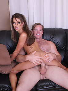 Tight brunette gets her tight pussy drilled hard