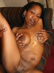 Striptease Ebony Babe Suck then Enjoys Cum Facial Indoors