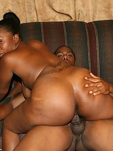 Black Lady Riding Over Partner Massive Dick Over Couch