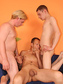 Sasha and His Two Hunky Friends Having Naughty Threesome Sex