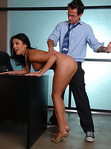 Maya Gates gets her pussy thrusted by her boss