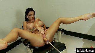 Busty Babes Jenna Presley Getting Slammed by Machine Dildo
