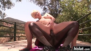 Nora craves for outdoor black dick fucking