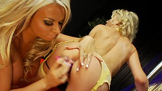 Two amazing milf making each other cum with toys
