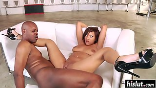 Redhead Babe Catalina Taylor Getting Asshole Licked then Railed By Black Dude
