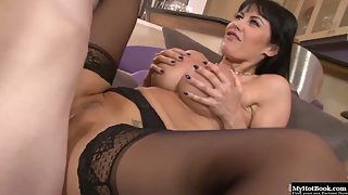 Eva Karera fucked by a young dude with a serious cock