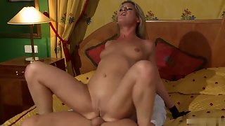 Hot perfect blonde gets a hard cock in her ass