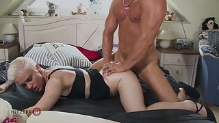 Big tit German MILF picked up and fucked hard