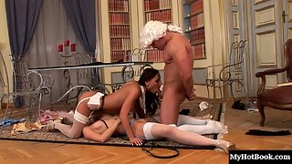 Nataly and Mia Displaying Their Horny Act and Fucking With A Guy