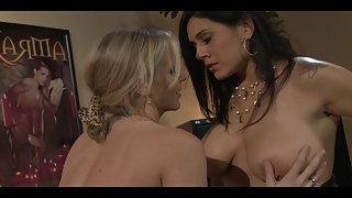 Office MILFs in a hot lesbian action