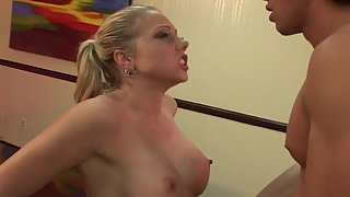 Bitch Gets Her Shaved Muff Slammed By a real Stud