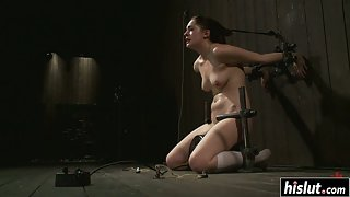 Small Boobs Whore Lori Takes Whipping from Dude in Bondage Activity