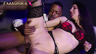 Lovely Liesje takes a black cock up her ass