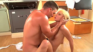 Petite blonde slut fucked by captain on the deck