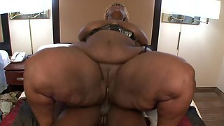 Black stud fucks horny fat ebony slut