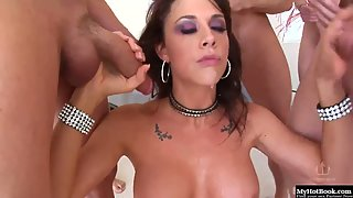Chanel Preston gets used hard in a blowbang