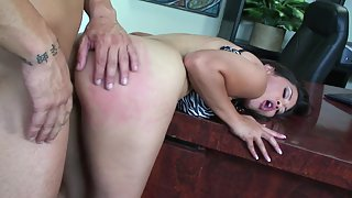 Big ass Asian secretary gets fucked in the office