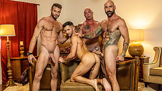 Hunk gays Link and Casey anal group sex with Casey and Drew