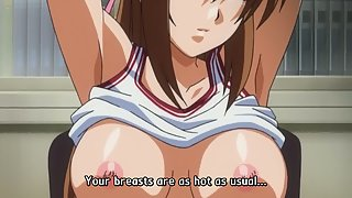 Busty schoolgirl gets fondled and then fucked in public school by dirty sensei