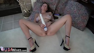 Busty matures self stimulation with toys
