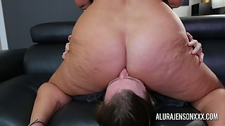 Mature Alura Jenson Getting Cunt and Asshole Eaten by Young Stud