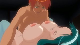 Cute anime girlfriend ties up her boyfriend and gives him a romantic blowjob