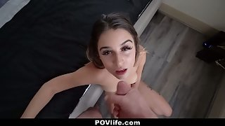 Big Booty Babe Pamela Morrison Took Large Dick in Her Mouth and Pussy in POV