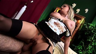 Amazing blonde chick with huge tits fucked hard