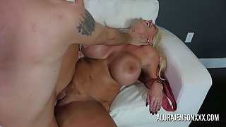 Blonde Milf with Big Boobs Alura Jenson Sucks and Nailed by Young Dick