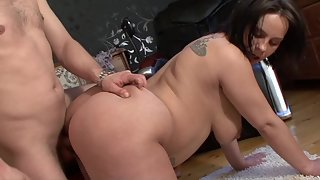 Bbw slut loves to fuck hard with huge dick