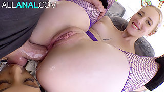 Eliza & Marilyn sharing a dick up their asses