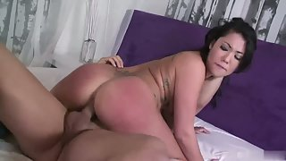 Bubble ass Asian babe fucked hard and deep