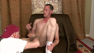 Hot and Sexy Striking Guy Gets Massage by a Naughty Old Man
